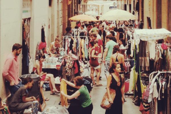mercadillos de segunda mano en Barcelona